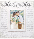 Wood Single Image Tabletop Frame 5\u0027\u0027x7\u0027\u0027-Mr & Mrs & Corinthian Scroll