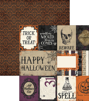 """Simple Sets Spellbound Double-Sided Elements 12""""X12""""-Journaling Cards"""