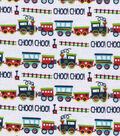 Snuggle Flannel Fabric 42\u0027\u0027-Choo Choo Train