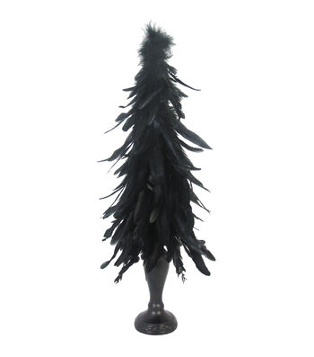 Maker's Halloween Large Feather Tree-Black