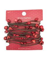 Blooming Holiday 9' Bells Rope Garland-Red, , hi-res