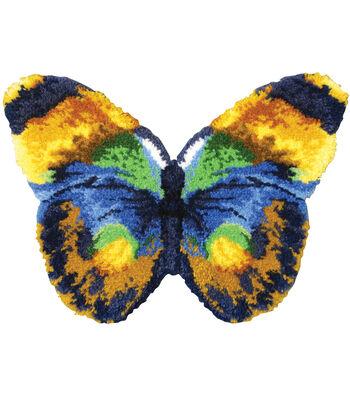 """Shaped Latch Hook Kit 32""""X24""""-Butterfly"""