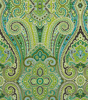 "Waverly Upholstery Fabric 54""-Park Run Peacock"