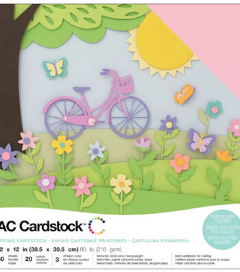 "American Crafts Variety Cardstock Pack 12""X12""-Spring"
