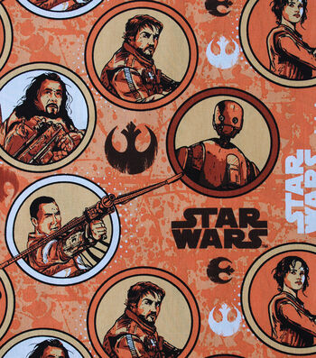 "Star Wars™ Rogue One Cotton Fabric 44""-Rebel Circles"
