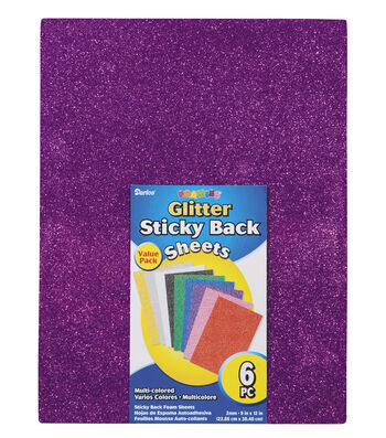 Foamies Glitter Sheet, 9 x 12 inches,  6 Pcs