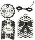 K&Company Black And White Chevron Gift Tags