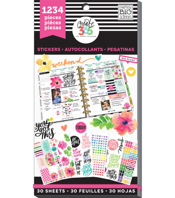 Create 365 Happy Planner Sticker Value Pack-Today Is The Day