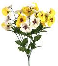 Fresh Picked Spring 19\u0027\u0027 Pansy Bush-Yellow & White
