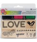 American Crafts Amy Tangerine Sunshine & Good Times Stamp & Ink Pad