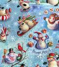 Keepsake Calico Holiday Cotton Fabric 43\u0022-Snow Celebration