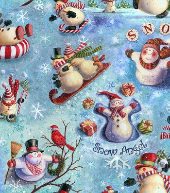 """Keepsake Calico™ Holiday Cotton Fabric 43""""-Snow Celebration"""
