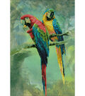 Macaws Stamped Cross Stitch Kit 14 Count