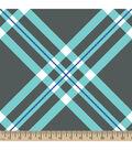 Blizzard Fleece Fabric 59\u0022-Diagonal Plaid Gray