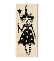 Inkadinkado® 2''x4.75'' Mounted Rubber Stamp-Witch Doll, , hi-res