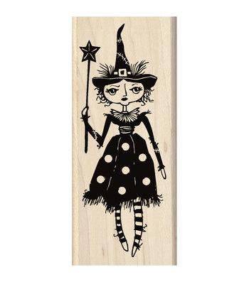 Inkadinkado® 2''x4.75'' Mounted Rubber Stamp-Witch Doll
