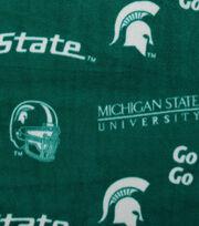 Michigan State University Spartans Fleece Fabric 58''-Green, , hi-res
