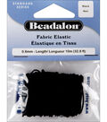 Fabric Elastic .6mm 32\u0027/Pkg-Black