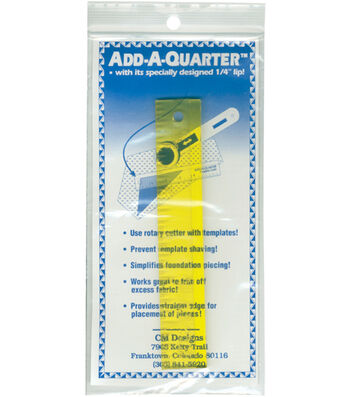 "Add-A-Quarter or Add-An-Eighth 6"" Rulers"