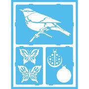 Fluttery F-gloss Enamel Stencil, , hi-res