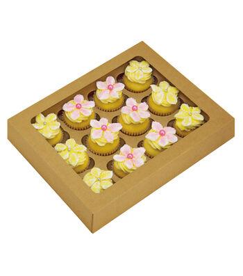 "Mini Cupcake Boxes-White 3/Pkg 2""X9.5""X7.5"""