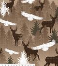 Northwoods Fleece Fabric 59\u0022-Stamped Wilderness