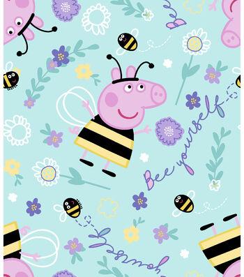 """Peppa Pig Fleece Fabric 59""""-Bee Yourself"""