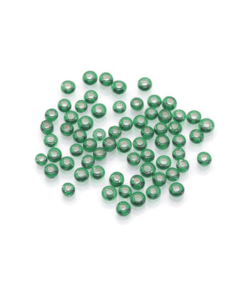 Glass Rocaille Beads, Christmas Green, 10/0,20 grams
