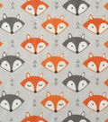Soft & Comfy Fleece Fabric 57\u0022-Fox Faces