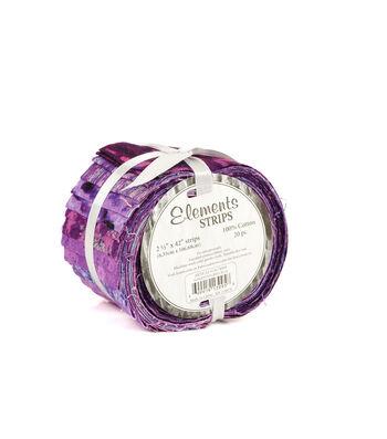"Jelly Roll Cotton Fabric 2.5""-Purple"