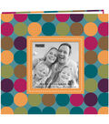 Pioneer Designer Printed Raised Frame Polka Dots Bound Album 8\u0027\u0027x8\u0027\u0027