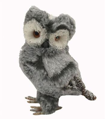 Blooming Holiday Christmas Owl-Gray