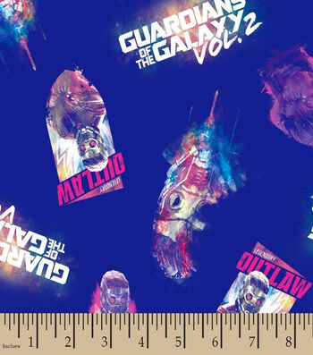 Marvel's Guardians of the Galaxy Print Fabric- Star Lord Toss
