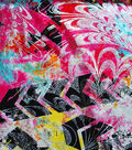 Abstract Silver Foil Pink