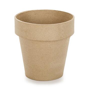 "Paper Mache Clay Pot-6""X6"""