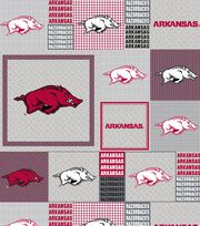 "University of Arkansas Razorbacks Fleece Fabric 58""-Gray Box, , hi-res"