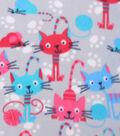 Blizzard Fleece Fabric 59\u0022-Kitties And Mice