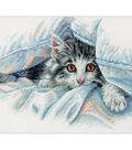 Cat Comfort Counted Cross Stitch KitX8\u0022 14 Count