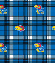 "University of Kansas Jayhawks Fleece Fabric 60""-Plaid, , hi-res"