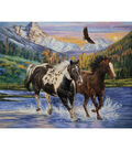 Novelty Cotton Fabric Panel 44\u0022-Running Through The River
