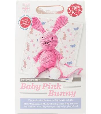 The Crafty Kit Co. Crochet Kit-Baby Pink Bunny