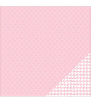 American Crafts Basics Quatrefoil Double-Sided Cardstock, , hi-res