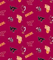 "Virginia Tech Hokies Cotton Fabric 44""-Red All Over, , hi-res"