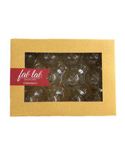 Fab Lab™ 12 pk 40 mm Glass Ball Ornaments-Clear, , hi-res