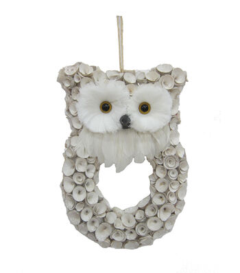 Blooming Holiday Woodcurl Snow Owl
