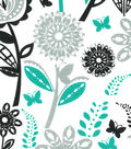 Quilter\u0027s Showcase® Fabric 44\u0027\u0027-Pool Green & Black Floral