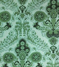 Two Daughters™ Cotton Fabric-Large Damask Green