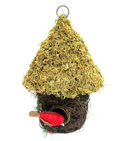 Blooming Holiday Moss Grapevine Bird House With Cardinal, , hi-res