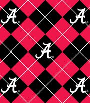 "University of Alabama Crimson Tide Fleece Fabric 58""-Argyle, , hi-res"