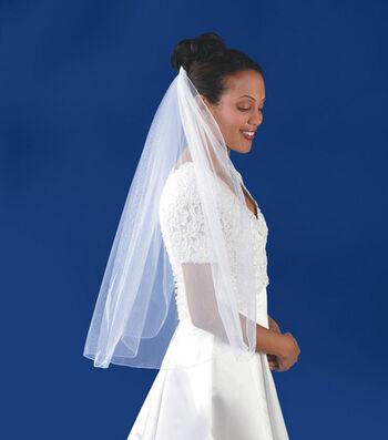 """Wilton® 31""""x54"""" Single-Layer Rolled-Edge Veil-White"""